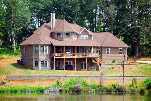 velký nový dům