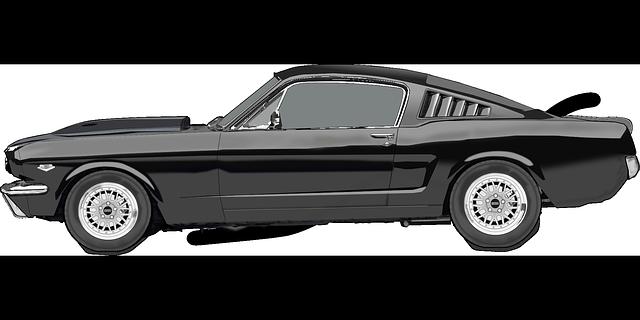 luxusní černý automobil